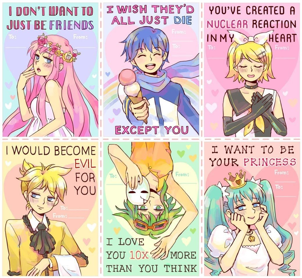 Cute Anime Valentine Cards Www Topsimages Com