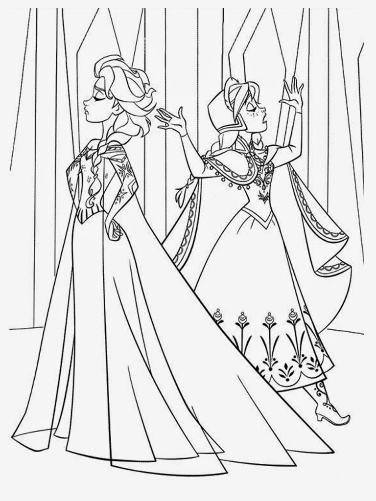 Download Free Frozen Coloring Pages Elsa And Anna Disney