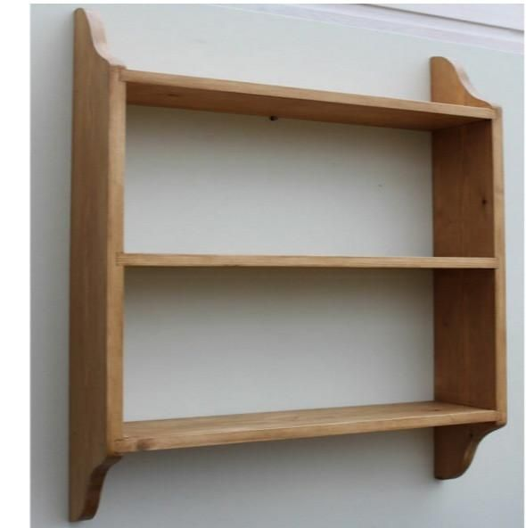 3 Tier Deep Wall Shelf 9 23cm Deep Cutaway Sides Antique Wall Shelf Shelves Wall Bookshelves