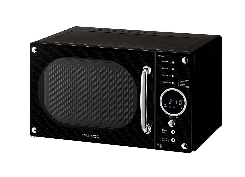Daewoo Retro Microwave Oven 23 Litre Black Co Uk