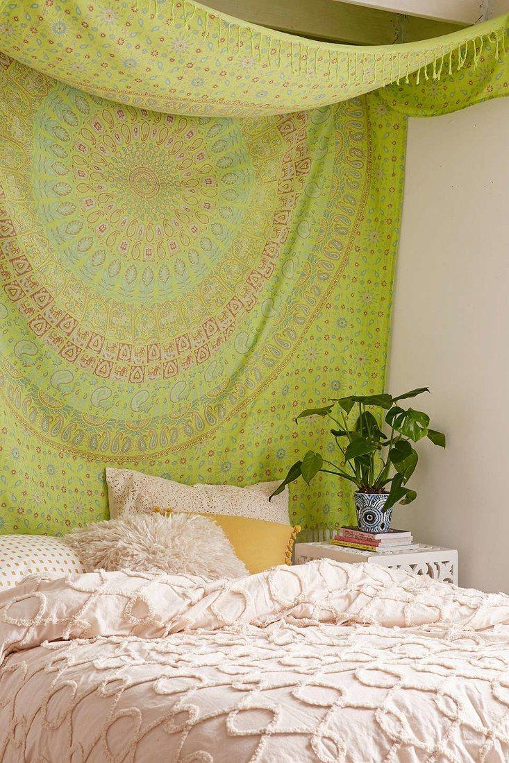 ethnic blanket instead of a headboard in your bedroom | Adult ...