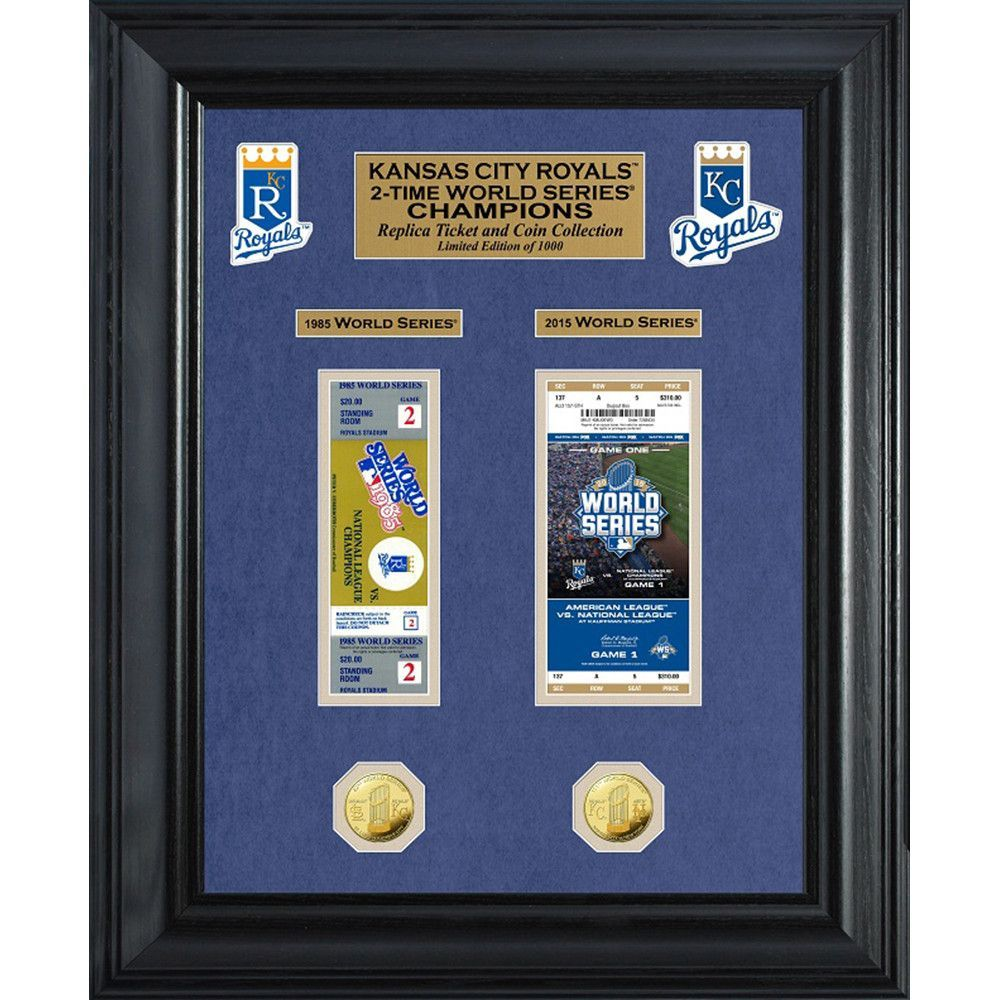Kansas City Royals World Series Champions Ticket Collection And Gold
