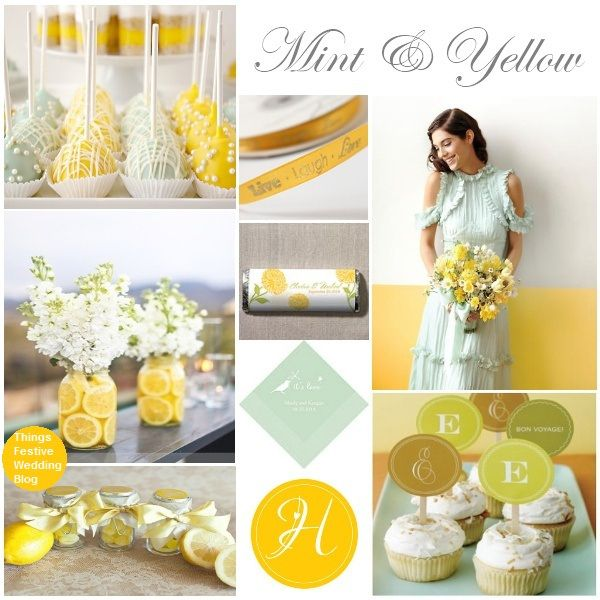 mint and yellow wedding by soo12, via Flickr