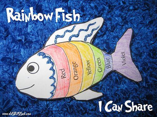 The rainbow fish activities preschool fish pinterest for Rainbow fish lesson plans