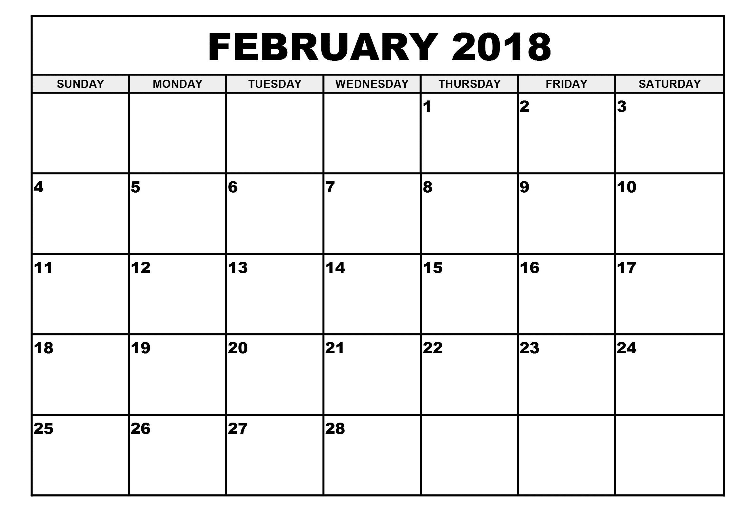February Calendar 2021 Printable Notes And To Do List February
