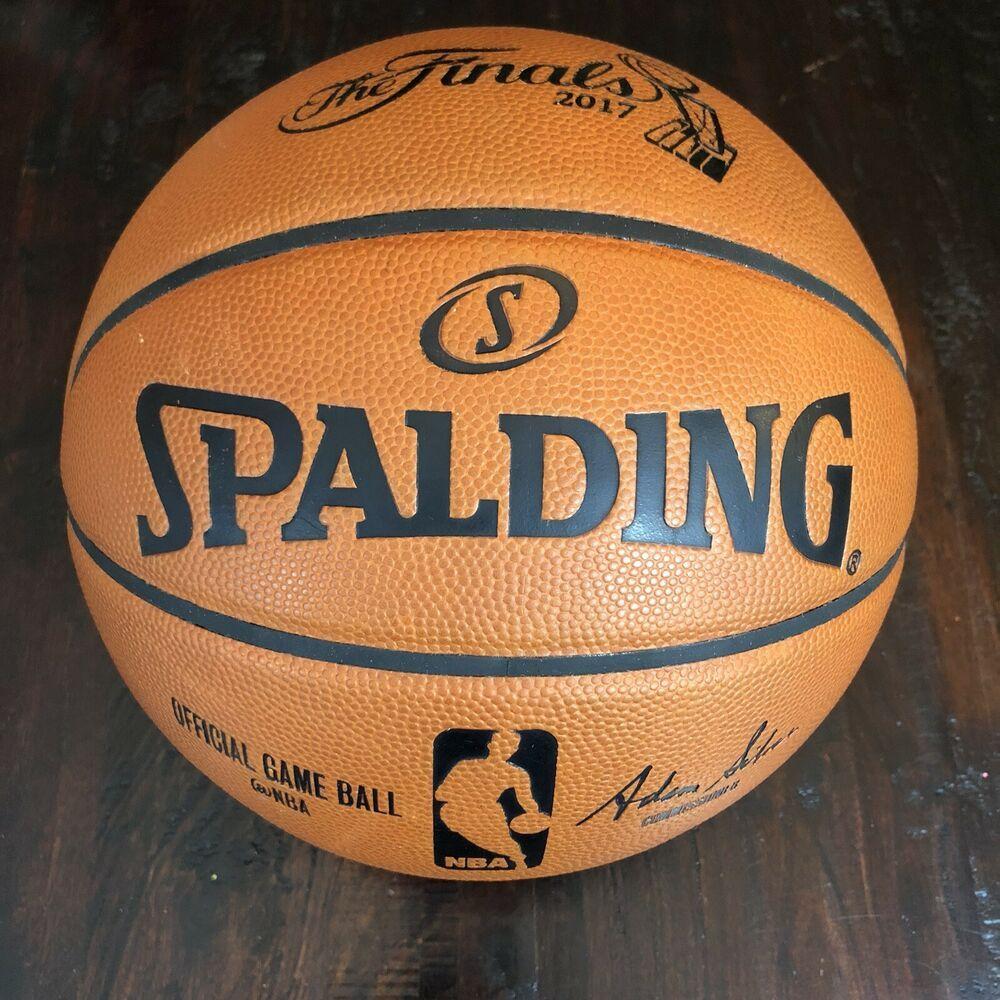 Ebay Sponsored 2017 Nba Finals Official Spalding Used Authentic Game Ball Basketball Lebron 2017 Nba Finals Nba Season Nba