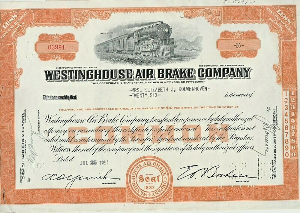 Details about Westinghouse Air Brake Company Common Stock