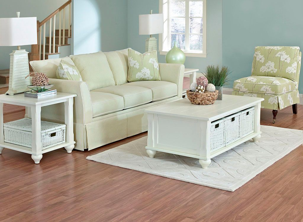 This American Made Sofa Features Updated Cottage Styling With Slightly  Flared Arms And Fresh Bright Cotton Upholstery. Home Furnishings, North  Carolina ...
