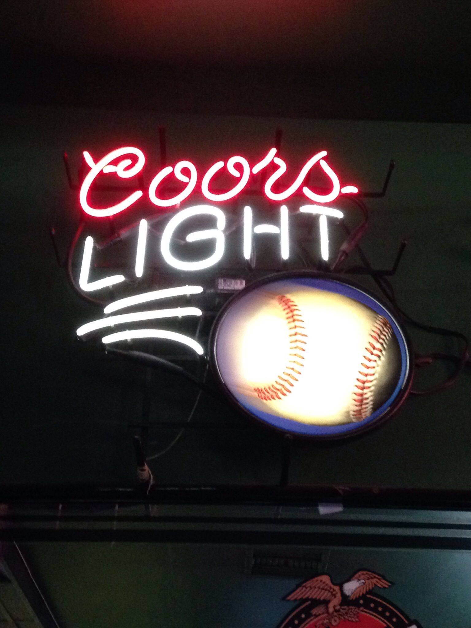 Neon beer sign coors light baseball neon beer signs neon beer sign coors light baseball aloadofball Images