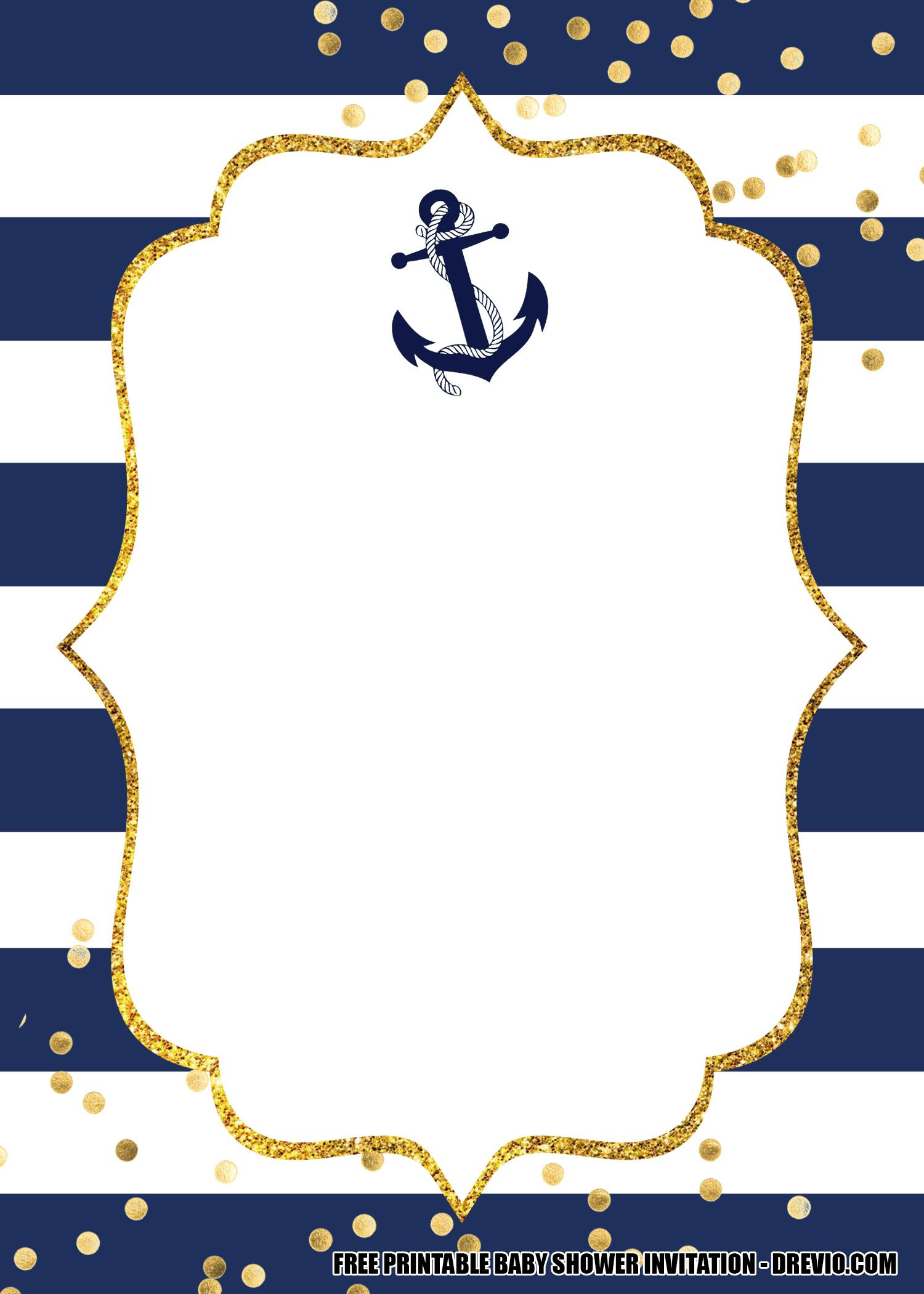 15 Free Nautical Birthday Invitation Templates Nautical Baby Shower Invitations Nautical Birthday Invitations Free Printable Baby Shower Invitations
