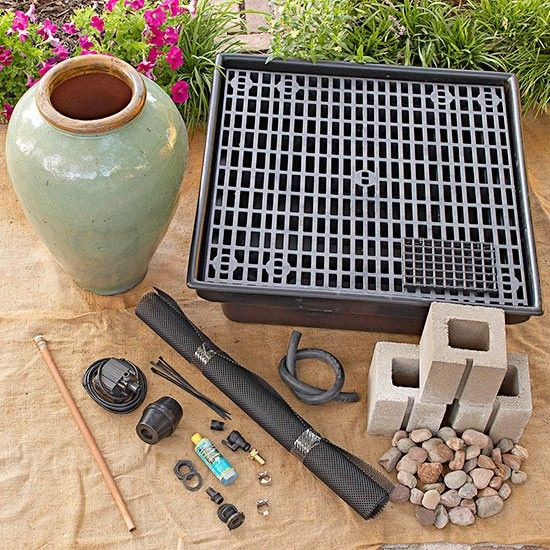 springbrunnen selber bauen materialien DIY - Do it yourself - quellsteine selber bauen