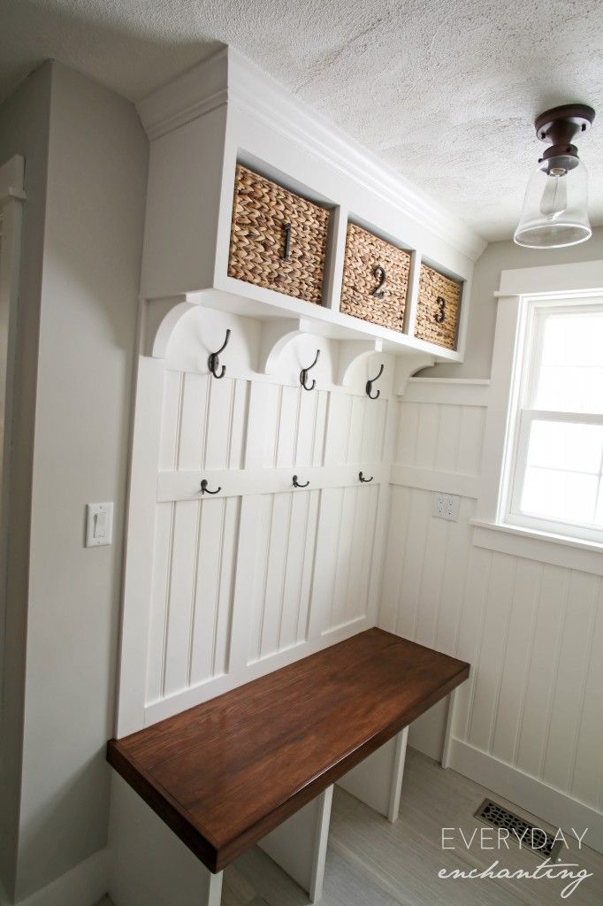 DIY Laundry Closet to Mudroom Makeover- Discover how this blogger ...