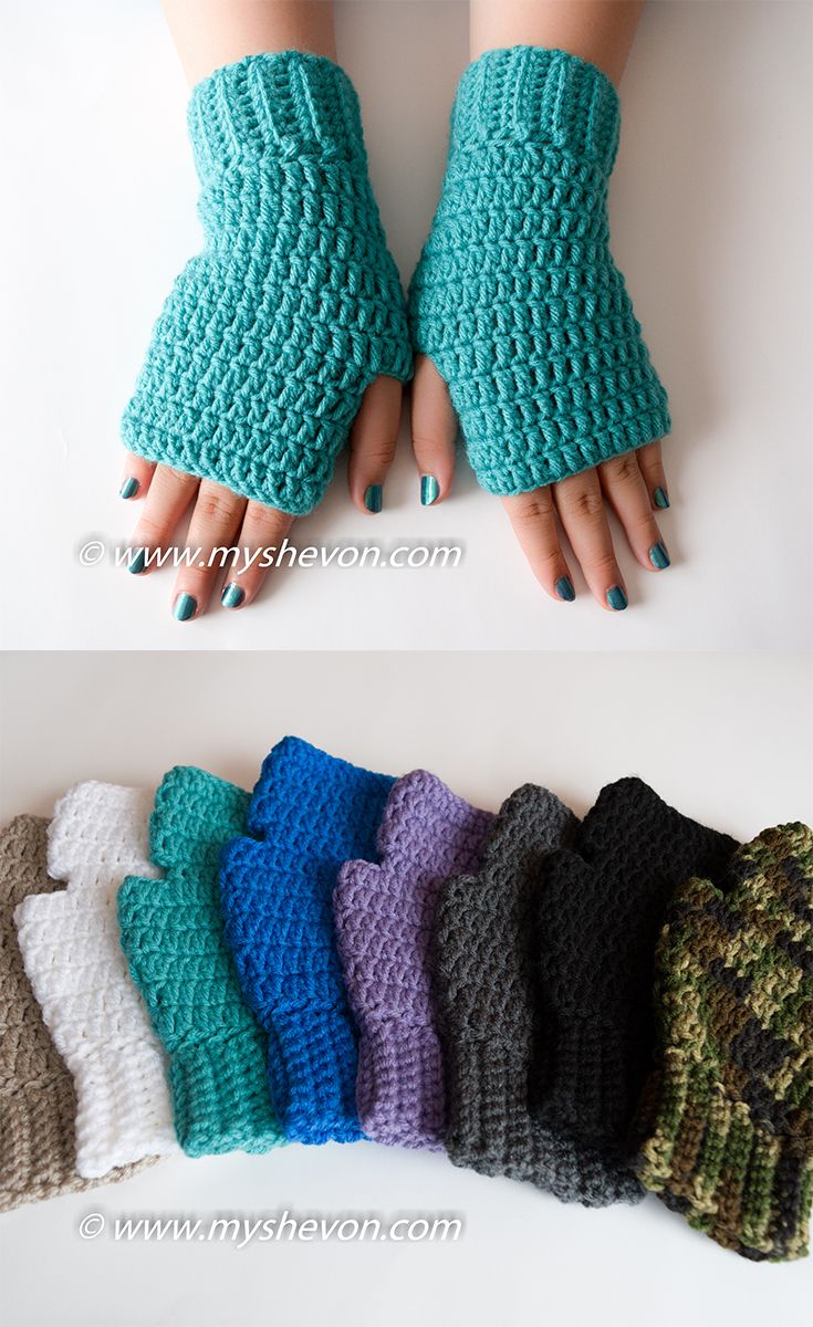 EASY FINGERLESS GLOVES - FREE PATTERN | gloves | Pinterest | Poncho ...