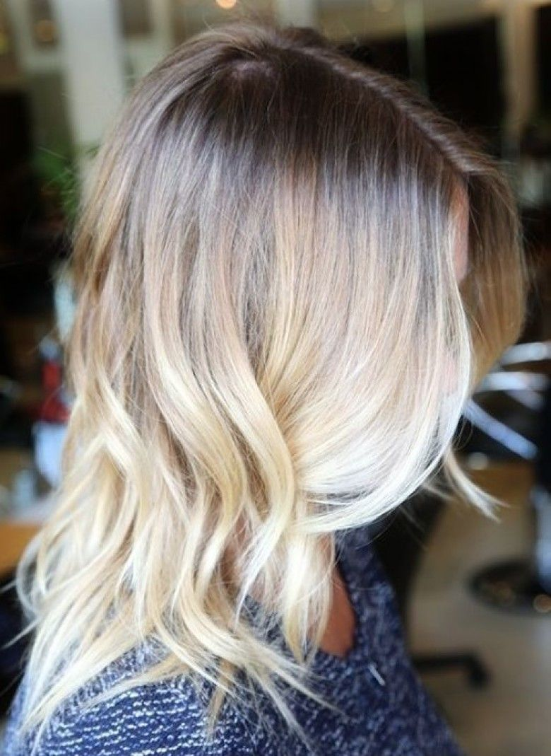 Balayage californien blond polaire - Balayage blond blanc ...