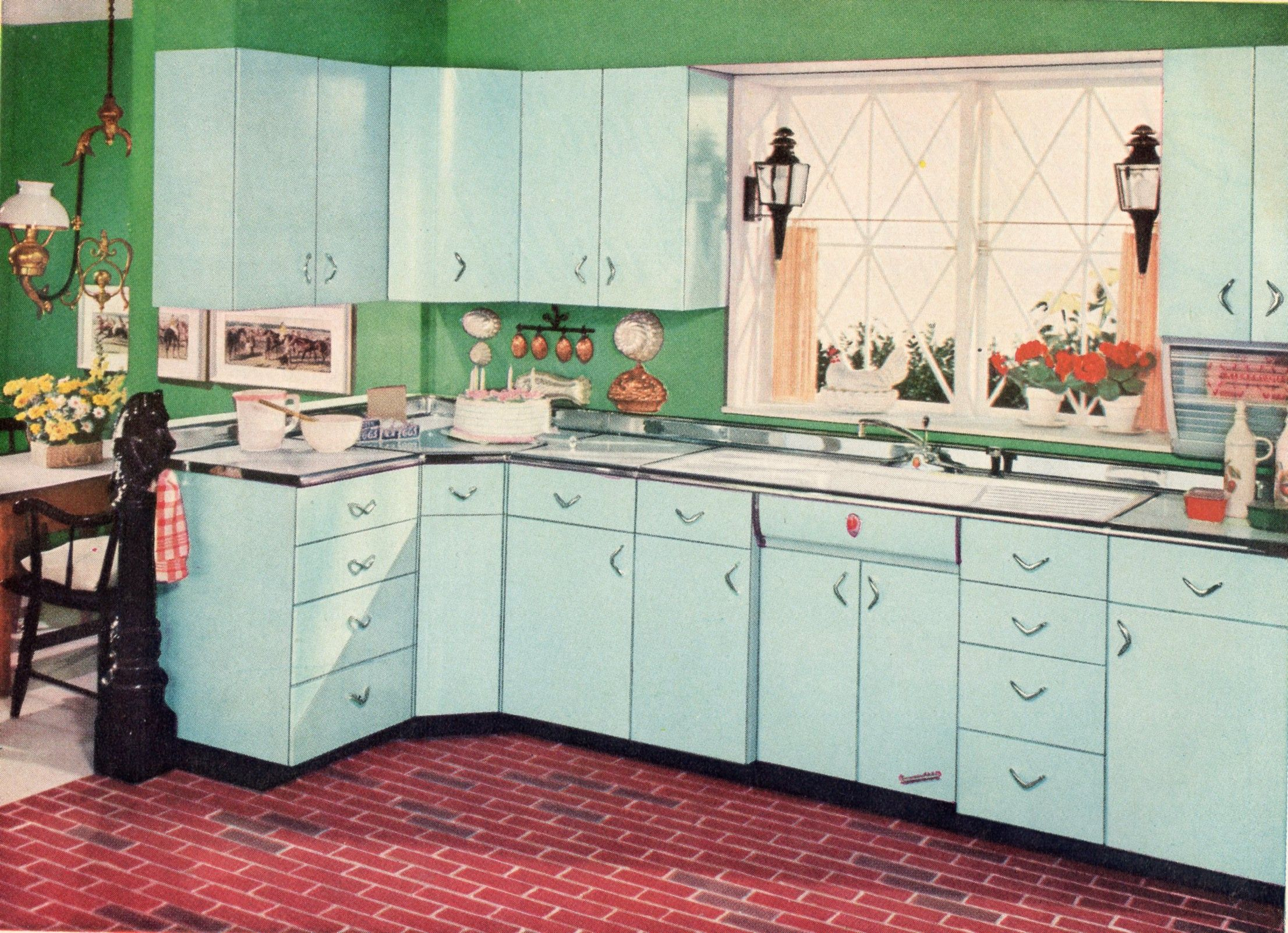 Youngstown aqua \'56 | Vintage Kitchens | Pinterest | Aqua, Vintage ...