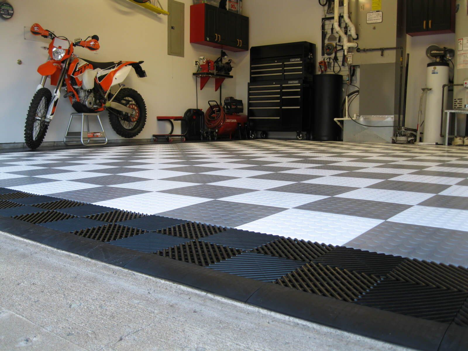 Paul S Coin Garage Floor Tile With Ribbed Drain Tile