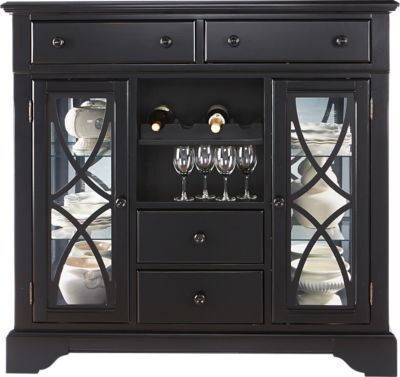 For A Cindy Crawford Home Ocean Grove Black Curio At Rooms To Go Find China Cabinets That Will Look Great In Your And Complement The Rest Of