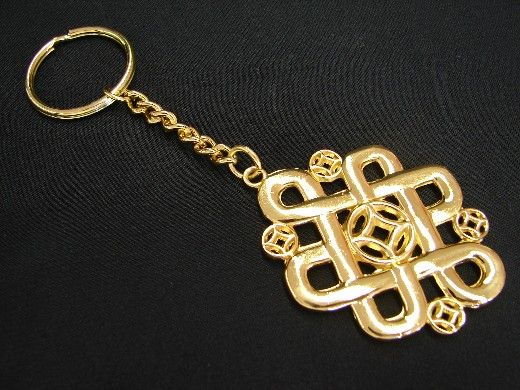 Feng Shui Mystic Knot Amulet Keychain