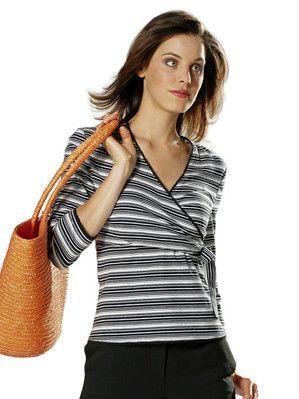 Burda NR. 7828-DL Kleid und Shirt - Wickel-Optik