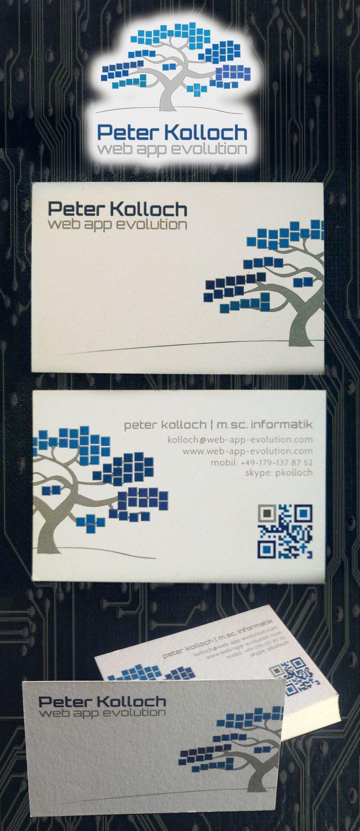 Web App Evolution Logo Design Und Visitenkarte Mit