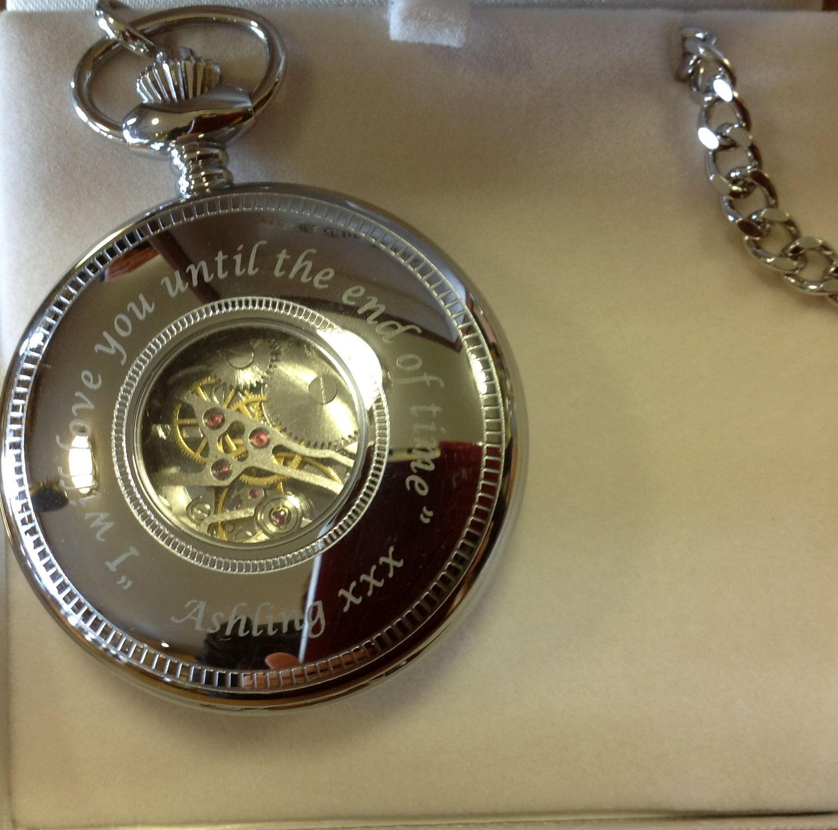What Is The Appropriate Gift For A Wedding: A TIMELESS Keepsake. Personalised Pocket Watch. Such An