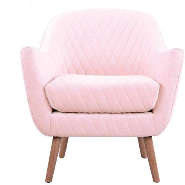 Club Chair Baby Pink With Oak Legs 815 Cad Liked On Polyvore Featuring