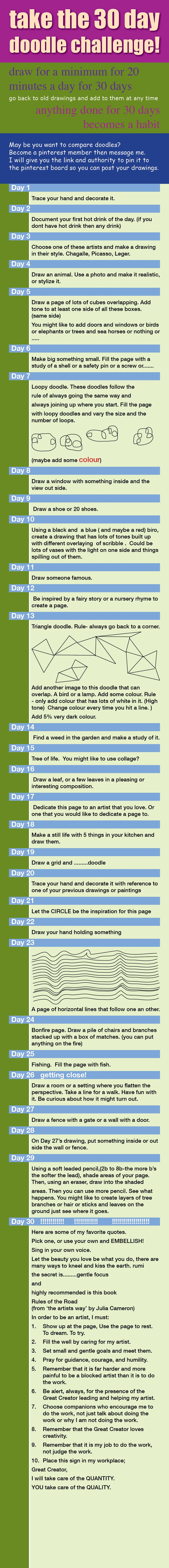 30 Day Challenge Drawing Challenge Sketch Book Drawings