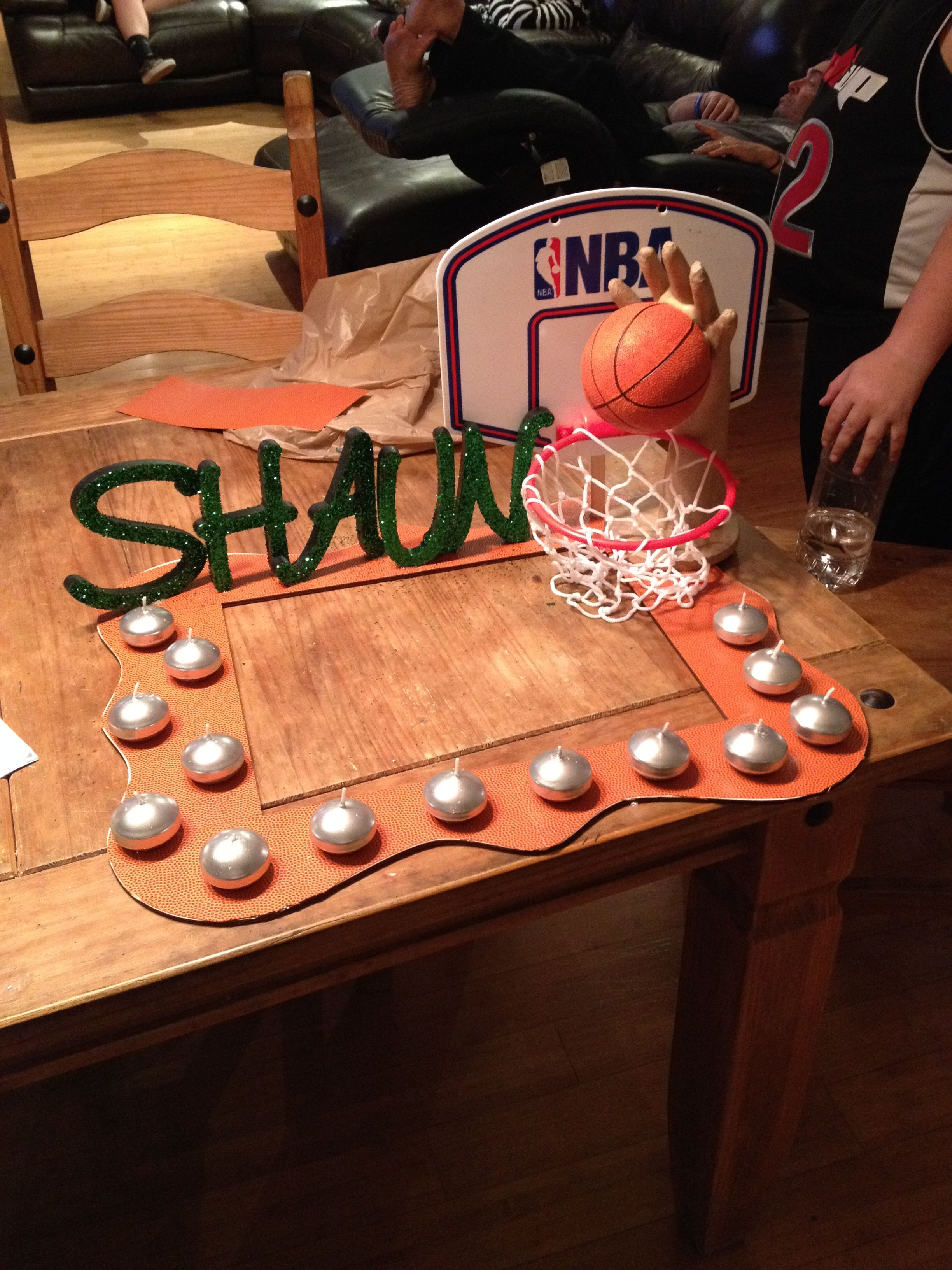 Candle Lighting Ceremony Basket Ball Bar Mitzvah