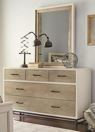 Midcentury Modern Dresser | White and Wood