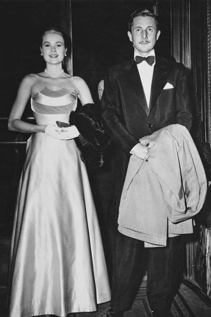 Grace Kelly 1954 With Oleg Cassini at the gala premiere of the The Last Time I Saw Paris.......Uploaded By www.1stand2ndtimearound.etsy.com