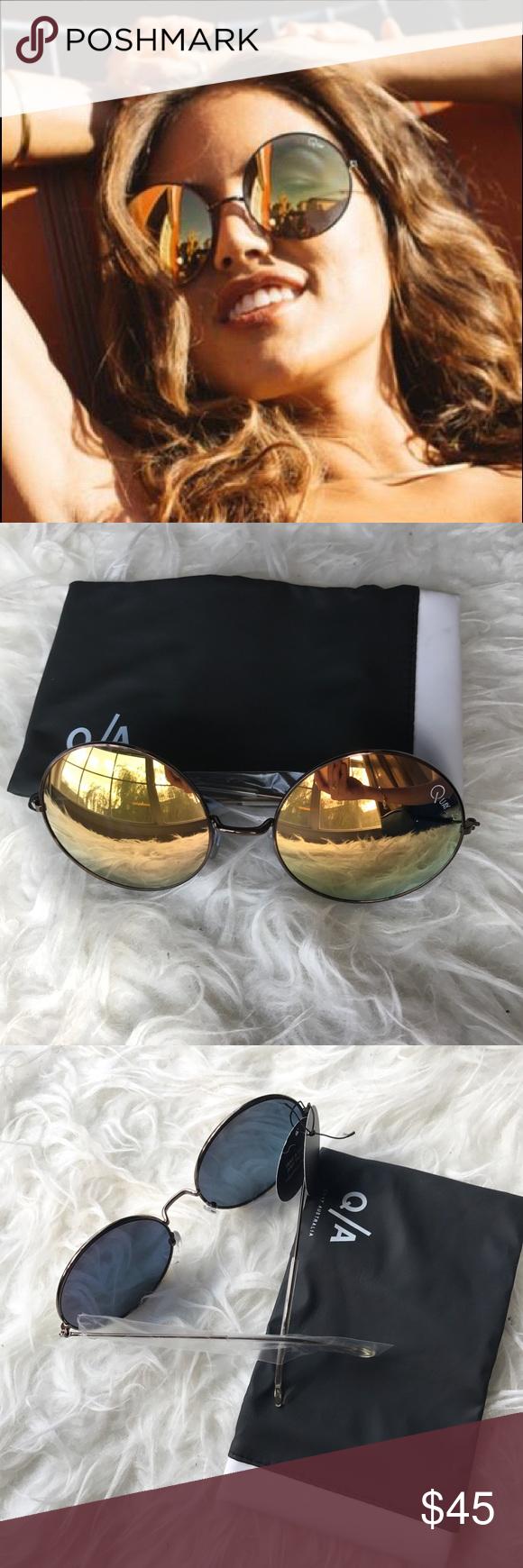 NWT Quay Australia Dynasty round mirror sunglasses Brand new with tag. Mirror lens Quay Australia Accessories Sunglasses