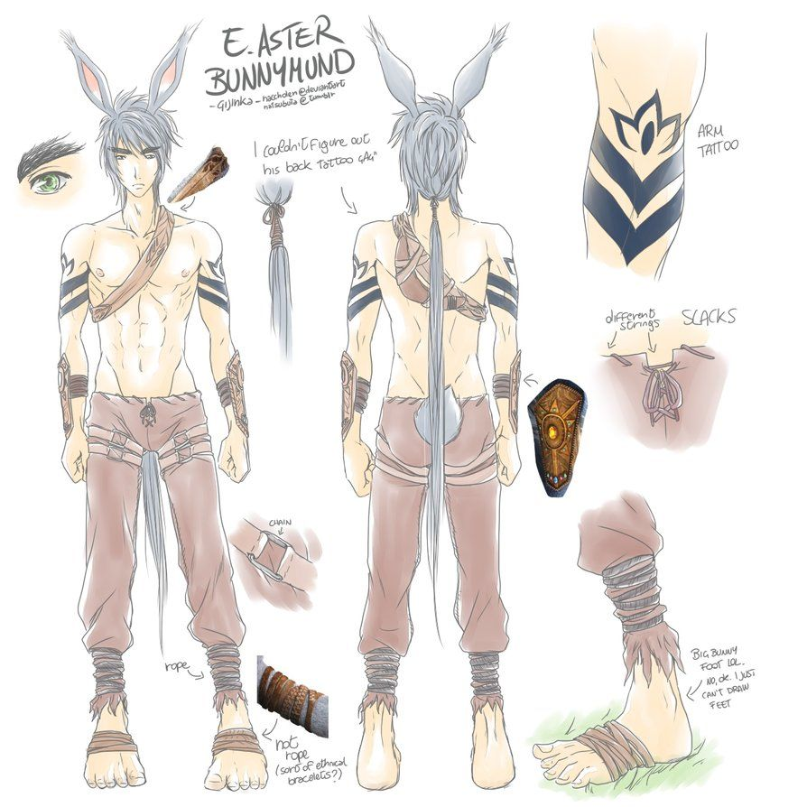 Cosplay Reference] Bunnymund 1 by naccholen.deviantart.com on ... for Human Easter Bunny Rise Of The Guardians  587fsj