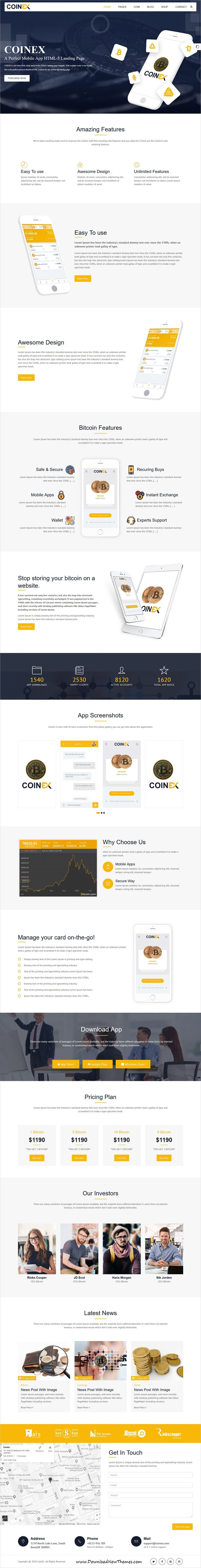 coinex ico bitcoin and crypto currency html template. Black Bedroom Furniture Sets. Home Design Ideas