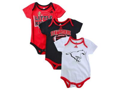 e425ef0ccfb8 Calgary Stampeders CFL New Born 3-Piece Bodysuit Set
