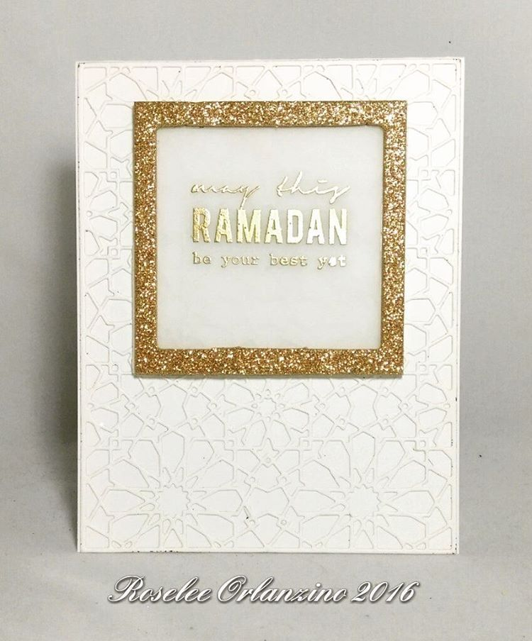 Altenew dodec cover die Altenew Ramadan greetings Heidi swapp frame ...