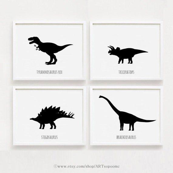 DinosaurierPlakat druckbare Kindergarten Art Set