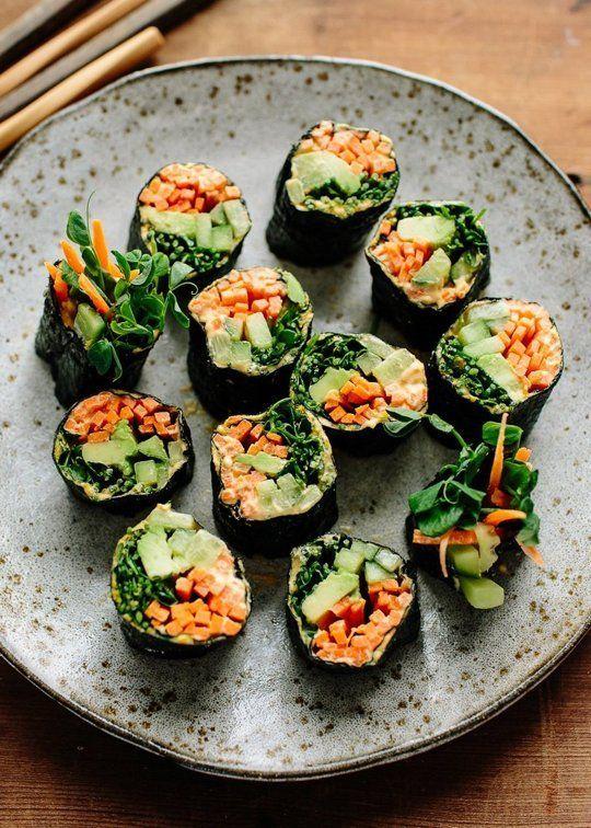 Veggie Nori Rolls Rezept Rezepte Einfache Rezepte Mittagessen