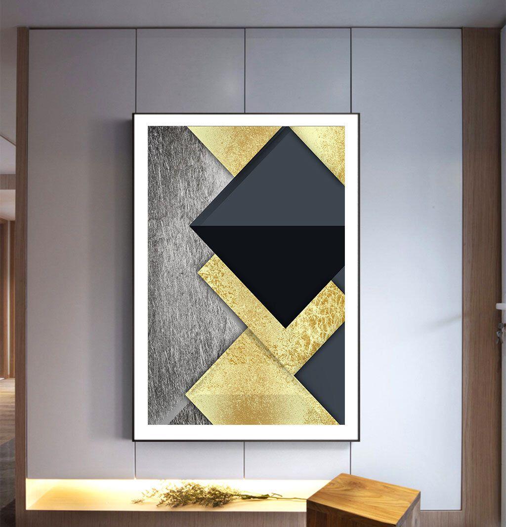 Geometric art print digital printable instant download wall art