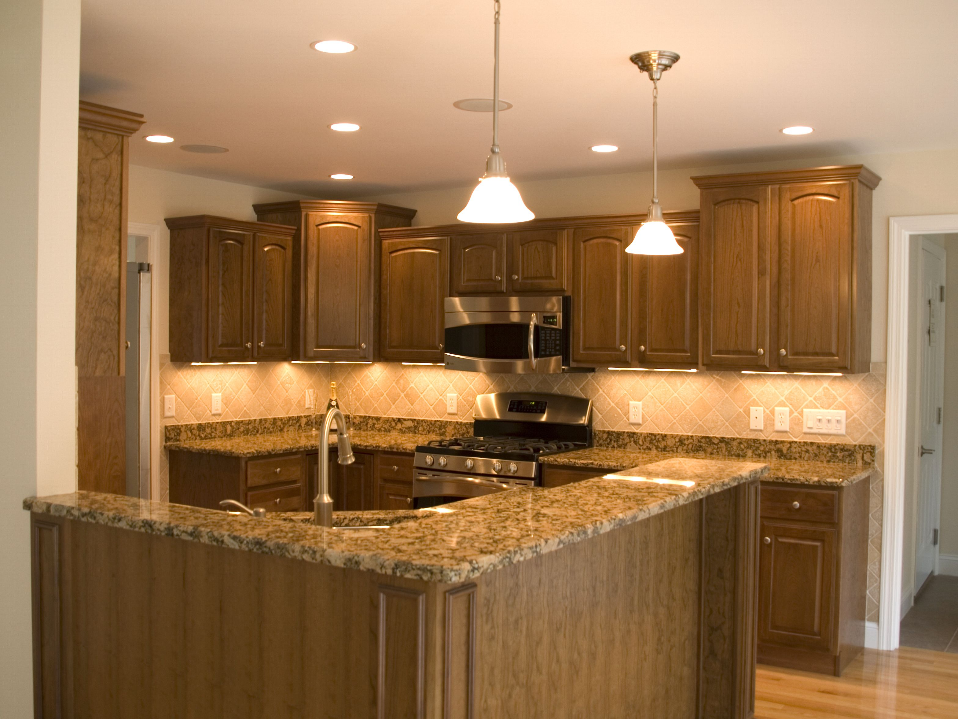 Gorgeous Custom Kitchen With Maple Cabinets Granite Counters Tile