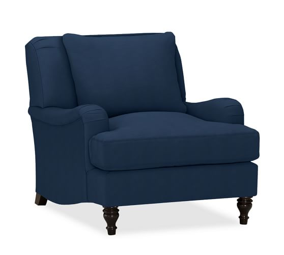 Carlisle Upholstered Armchair   Pottery Barn (With images ...