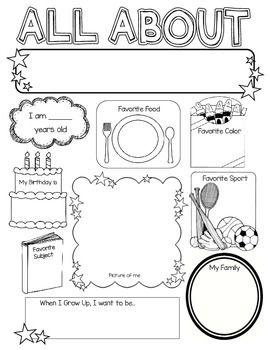 all about me.pdf | school stuff | Pinterest