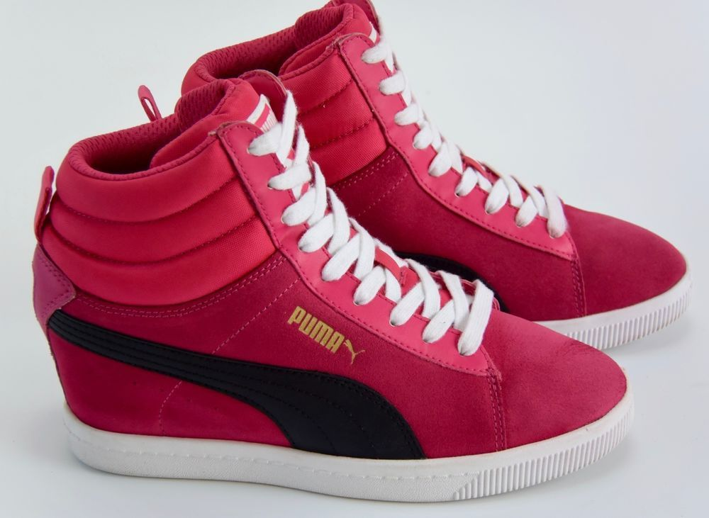 9e8f4096e709 Puma Classic Wedge Sneakers Women s Size 8 Suede Pink Black  PUMA  HighTop