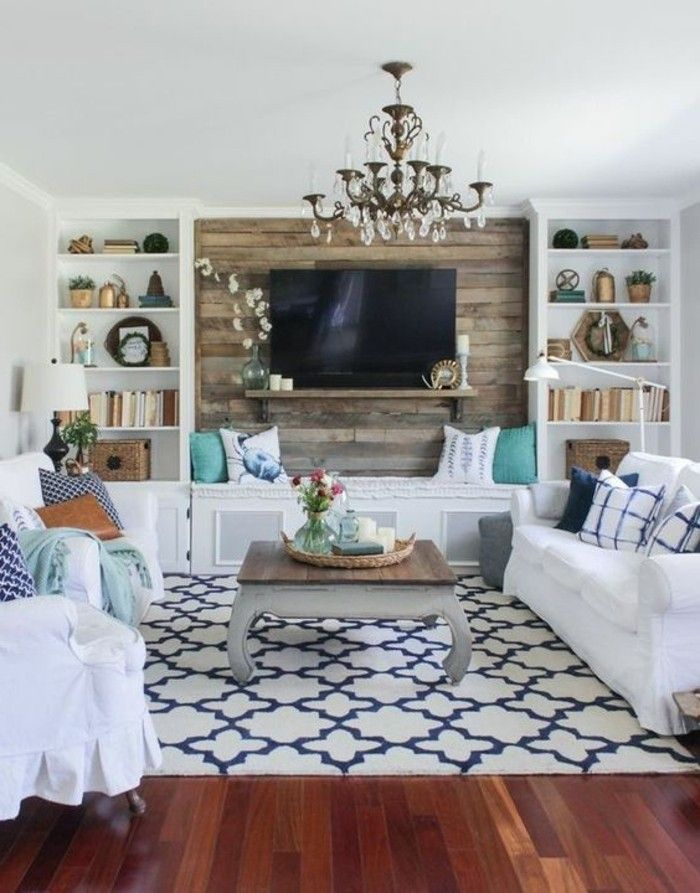 Decoracion salones peque os tonos naturales muebles de for Muebles de salon pequenos