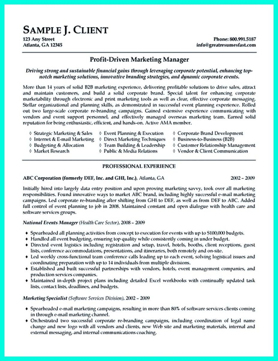 resume for case manager