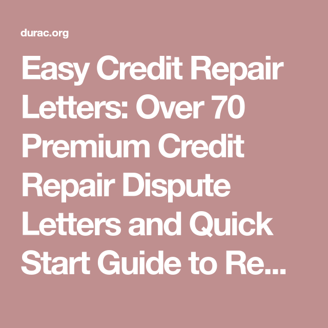 Easy Credit Repair Letters Over  Premium Credit Repair Dispute