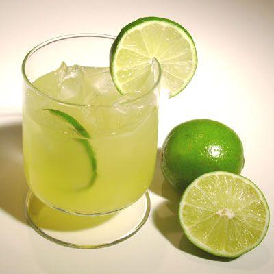Key Lime and Coconut Caipirinha