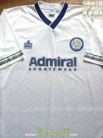 6206b452e Relive Leeds United s 1992 1993 season with this vintage Admiral home football  shirt.