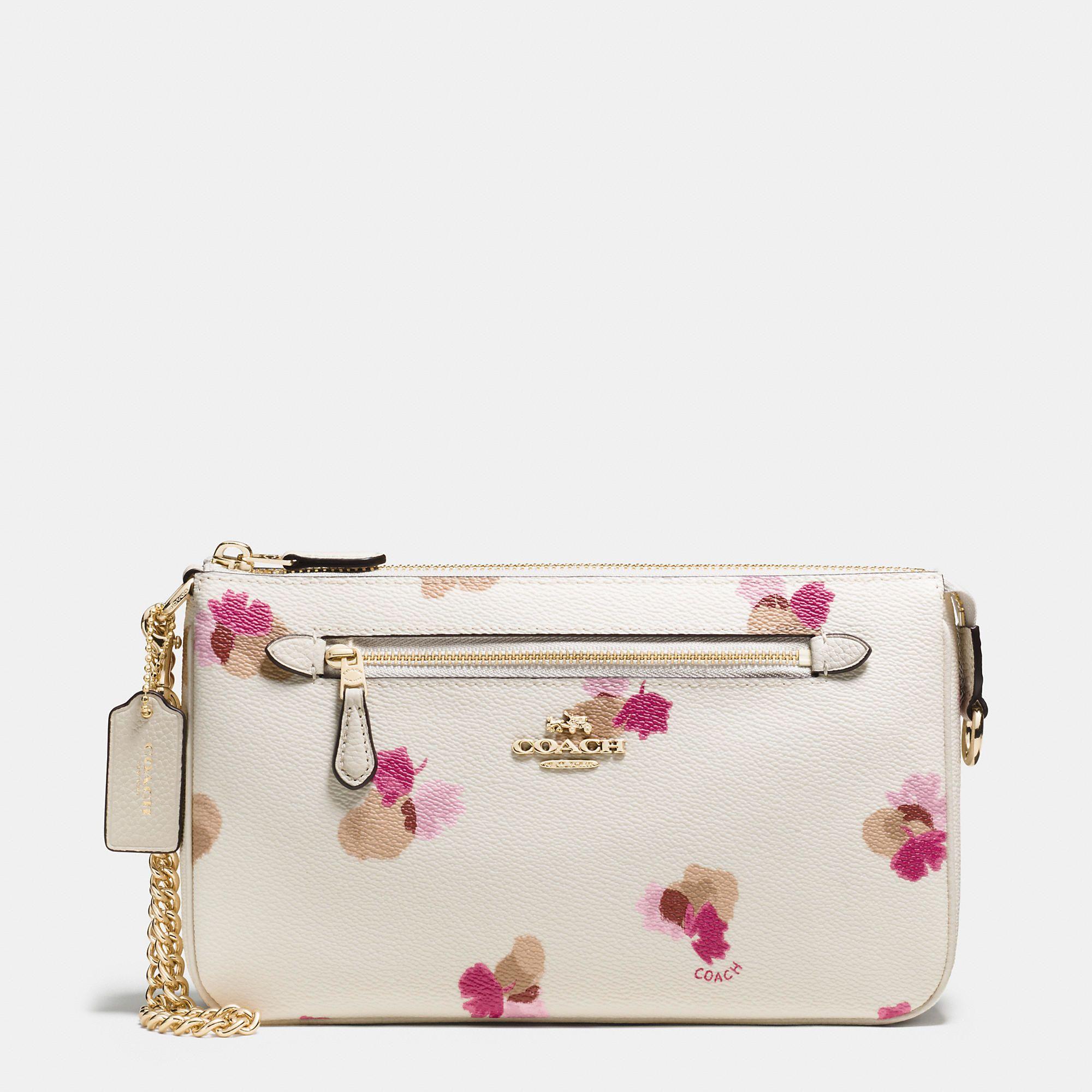 Authentic Coach Pink Flower Purse 46d7f 43e17