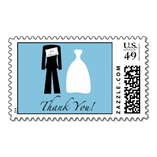 Order Just Married Thank You Stamp Just Married Thank You