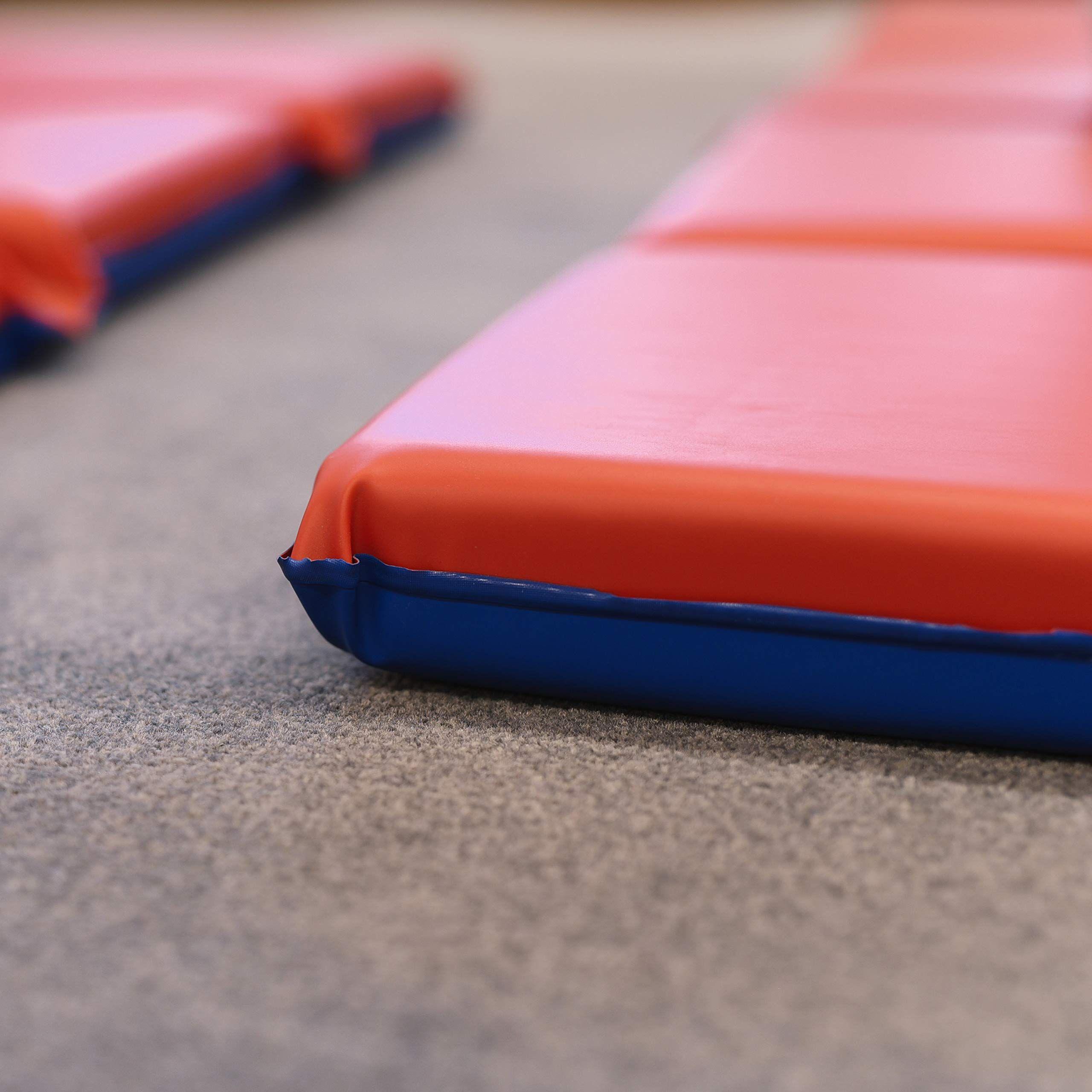 Ecr4kids Premium 3 Fold Daycare Rest Mat Blue And Red 2 Thick Ad Fold Daycare Ecr4kids Premium Blue War Machine Red